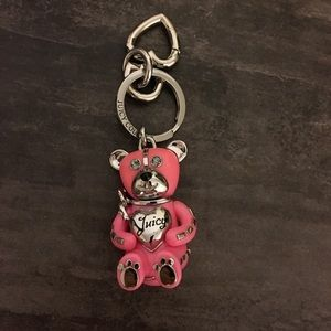 Juicy Couture Teddy bear keychain FOB